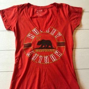 Hurley Orange Women's California T-Shirt